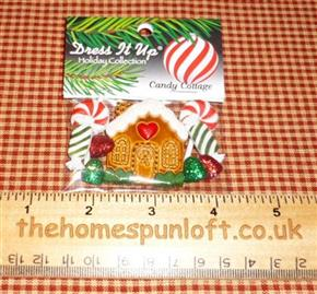 Christmas Gingerbread Cottage and Candy Buttons