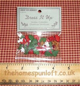 Christmas Holiday Collection Miniature Buttons