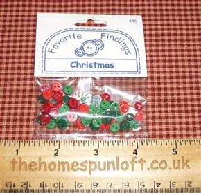 Christmas Red and Green Country Button Pack
