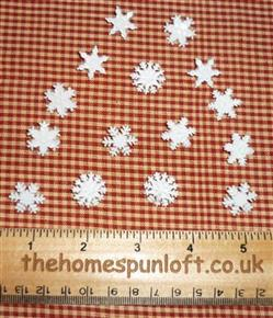 "Christmas Winter ""Snow"" Snowflakes Buttons"