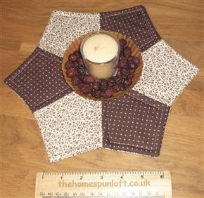 Civil War Quilted Candle Mat Table Topper