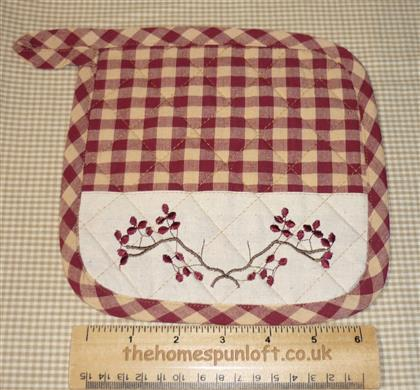 Decorative Primitive Homespun Kitchen Pot Holder