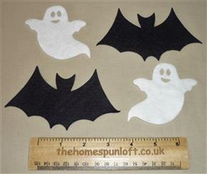Die Cut Felt Ghosts and Bats Autumn Halloween