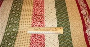 FQ Always the Season Christmas Stripe Fabric