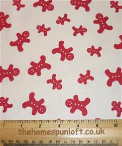 FQ Gingerbread Men Scandinavian Christmas Fabric