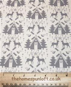 FQ Linen Look Scandinavian Christmas Fabric