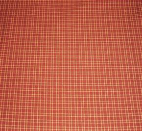 "FQ Primitive Barn Red/Tan Homespun Fabric 40"" Wide"