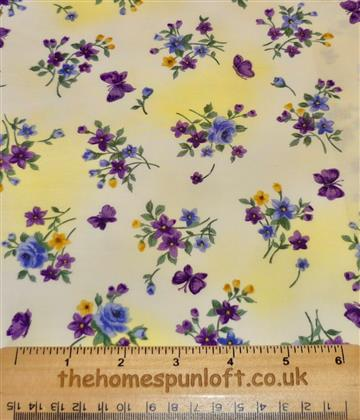 FQ Rainbow Florals Quilting Fabric by Benartex