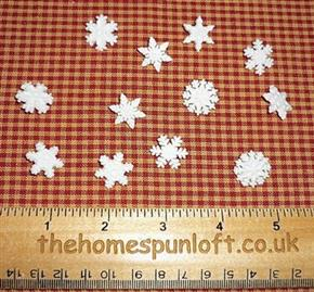 Glitter Snowflakes Winter Button Pack