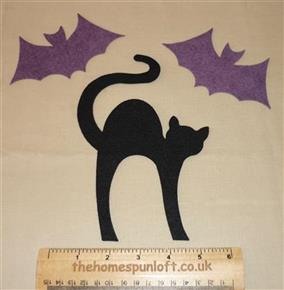 Halloween Cat and Bats FELT Appliqué Die Cuts