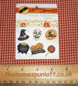 Happy Hauntings Halloween Spooky Witchy Buttons