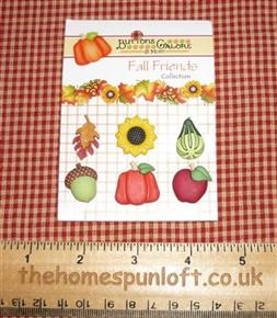 Harvest Happenings Fall Autumn Pumpkin Button Pack