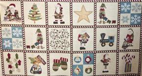 Here Comes Santa Christmas Fabric Panel