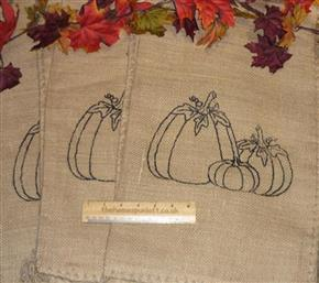 Hessian Pumpkin Sack Autumn Fall Halloween
