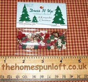 Holiday Collection Keepsake Christmas Button Pack