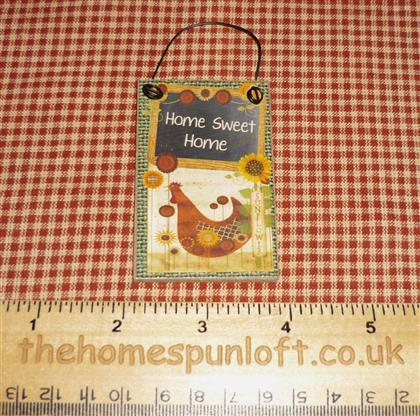 Home Sweet Home - Prim Country Chicken Sign