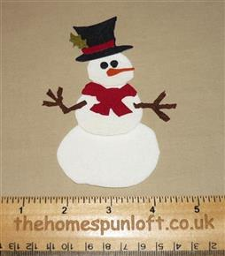 IRON ON Cute Snowman Fabric Die Cut
