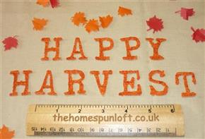 "IRON ON Letters ""HAPPY HARVEST"" Die Cuts"