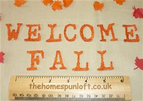 "IRON ON Letters ""WELCOME FALL"" Die Cuts"
