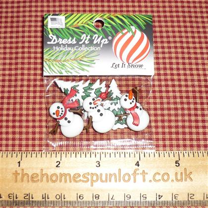 Let it Snow Christmas Dress it Up Button Pack