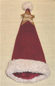 Merry Christmas Primitive Santa Bottle Topper
