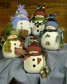 Odds and Ends Snowmen Pattern Countryside Crafts