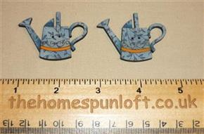 Pair of Watering Can Wooden Sew Thru Buttons
