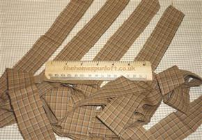 Prim Brown/Tan Homespun Fabric Strips 4cm Wide