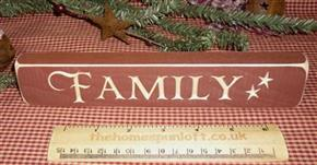 Primitive Barn Red Wooden *Family* Sign