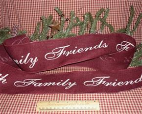 Primitive Faith Family Friends Hessian Ribbon