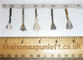 Primitive Halloween Witches Broom Wooden Buttons