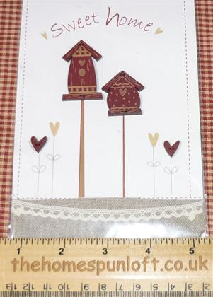 Primitive Home Sweet Home Birdhouse Buttons