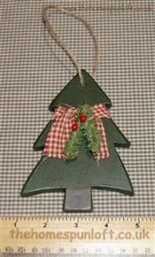 Primitive Wooden Christmas Tree Hanger
