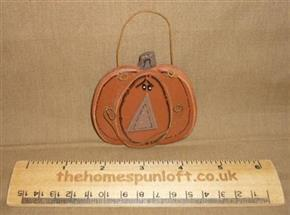 Primitive Wooden Pumpkin Pal Halloween Decoration