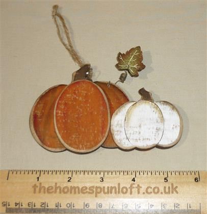Pumpkins Wooden Decoration Autumn Halloween Fall