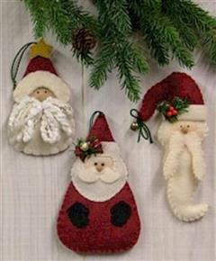 Santa Ornaments Pattern Countryside Crafts