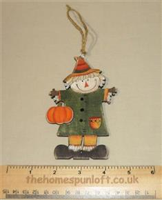 Scarecrow Wooden Decoration Autumn Halloween Fall