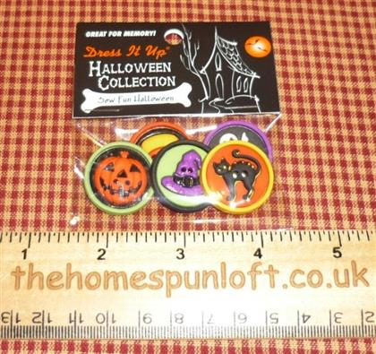 Sew Fun Halloween Collection Buttons