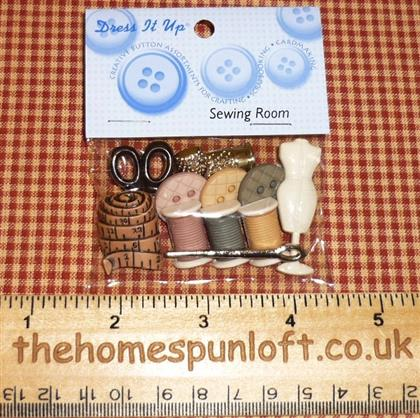 Sewing Room Themed Button Pack