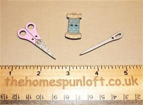 Sewing Set - Wooden Sew Thru Button Pack