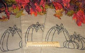 Small Hessian Pumpkin Sack Autumn Fall Halloween