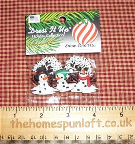 Snow Don't Go Christmas Dress it Up Button Pack
