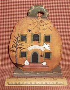Spooky Wooden Pumpkin House Autumn Halloween Fall