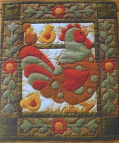 Spotty Rooster Quilt Kit by Rachels of Greenfield