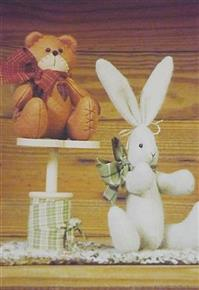 Timeworn Bear and Bunny Countryside Craft Pattern