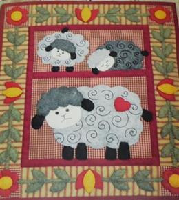 Twin Lambs Quilt Kit by Rachel's of Greenfield
