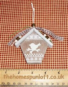 Wooden Birdhouse Hanging Decoration