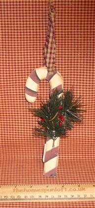 Wooden Primitive Christmas Candy Cane